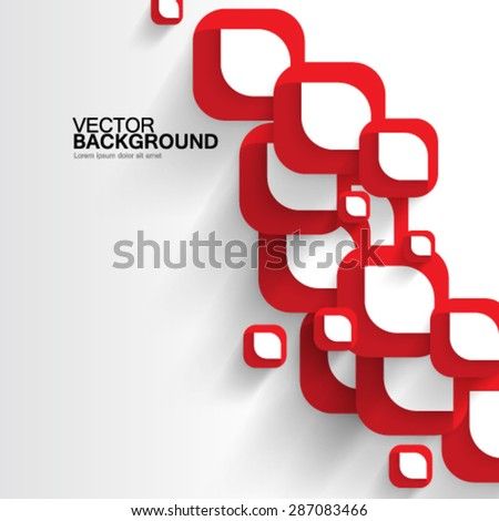 Overlapping Abstract Shapes Design Background - stock vector