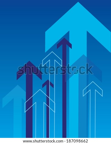 Overlapping Arrows Background - Vector