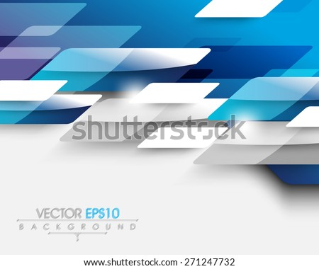 overlapping business elements presentation background design eps10 vector  - stock vector