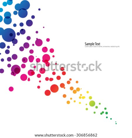 Overlapping Circles Design Digital Background - stock vector