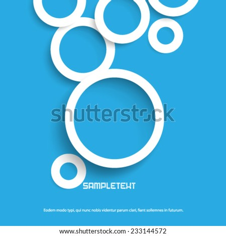 Overlapping Circles on Clean Background - stock vector