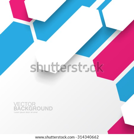 Overlapping Geometric Shapes Modern Background - stock vector