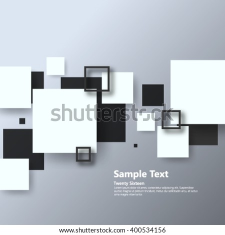 Overlapping Geometric Squares Background - stock vector