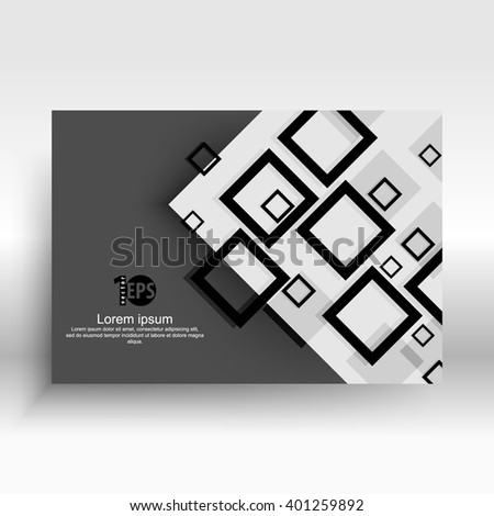 overlapping geometric squares flat layout concept design. eps10 vector - stock vector