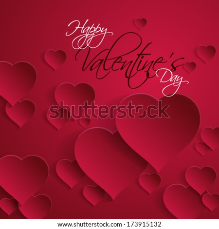 Overlapping Heart Valentine's Background - eps10 - stock vector