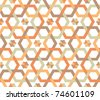 Overlapping hexagons - seamless pattern - stock photo