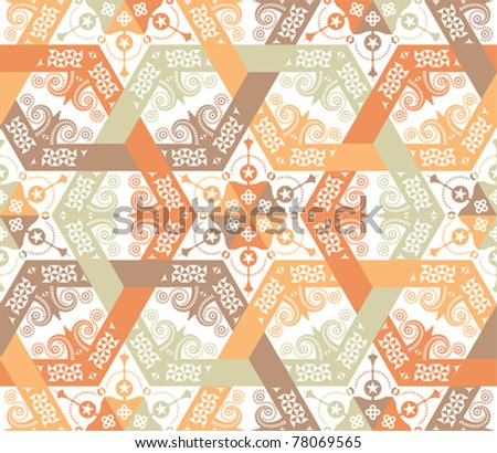 Overlapping intensive and seamless patterns - stock vector