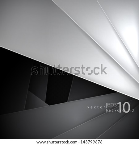 Overlapping Pattern Background - stock vector