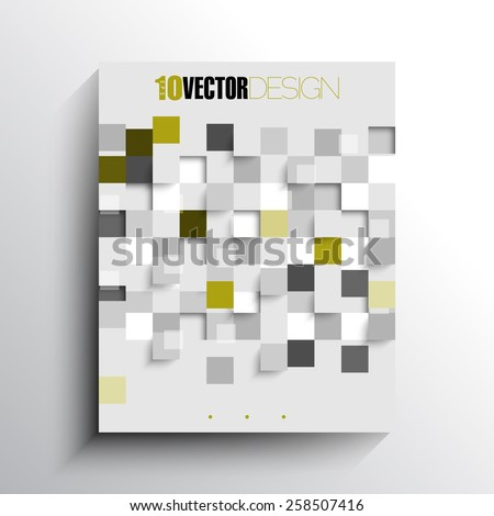 overlapping rumbled checkered squares geometric elements business background eps10 vector  - stock vector