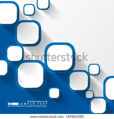 Overlapping Squares Background - stock vector