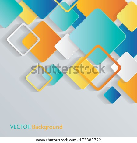 Overlapping Squares Concept Illustration - stock vector
