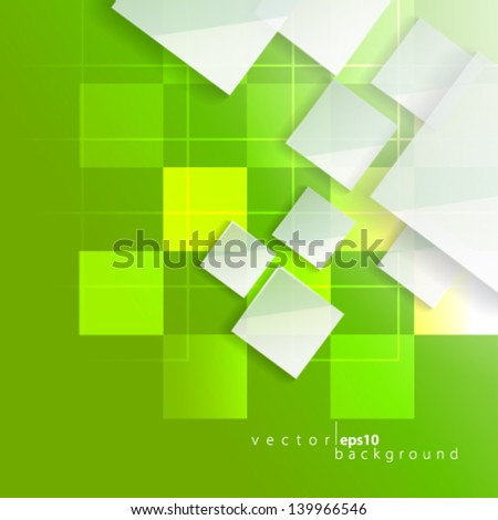 Overlapping Squares - eps10 - stock vector