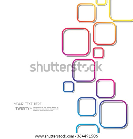 Overlapping Squares Modern Design Background - stock vector