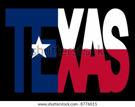 Overlapping Texas Text Their Flag Illustration Stock Vector 8776015
