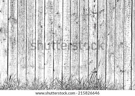 Overlay texture Wooden planks and grass - background for your design. EPS10 vector. - stock vector