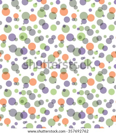 Overlay transparent color circles seamless abstract background. Transparency are flattened.