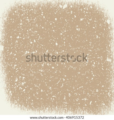 Overlay Vignetted Beige Texture for your design. EPS10 vector. - stock vector