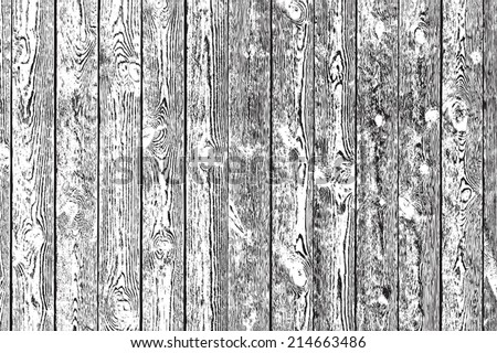 Overlay Wooden Texture - Knotted Planks Background, for your design. EPS10 vector. - stock vector