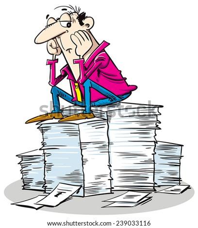 Overload work - stock vector