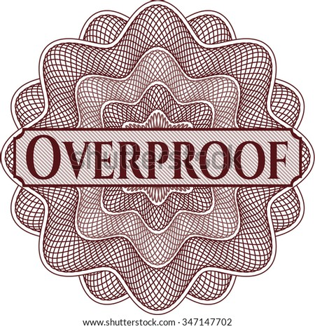 Overproof money style rosette - stock vector