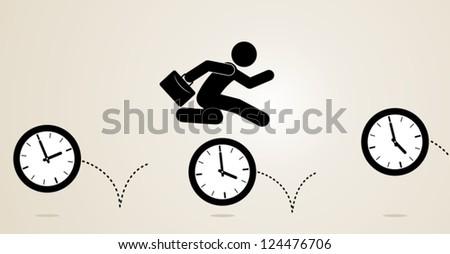 overtime - stock vector