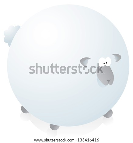 Overweight round sheep
