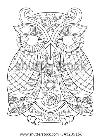 owl animal mandala coloring page for adult - Animal Mandala Coloring Pages Owl