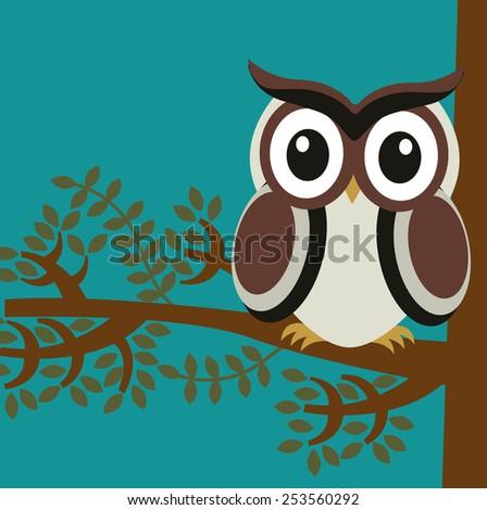 owl bird design, vector illustration eps10 graphic  - stock vector