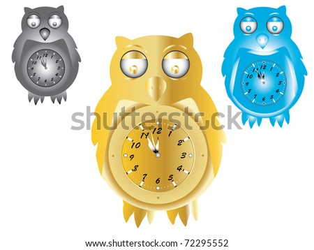 owl bird wall clock