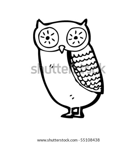 owl cartoon - stock vector