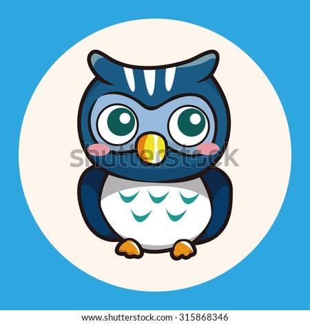 owl cartoon theme elements vector,eps - stock vector