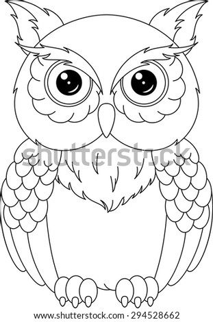 owl coloring page - Owl Coloring Page