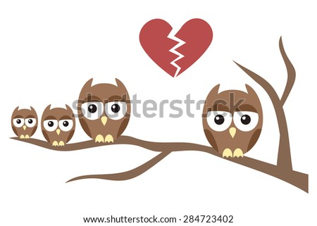 Owl Family Divorce with Children