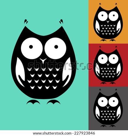 Owl icon - stock vector