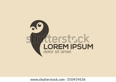 Owl logo design, night hunter logo, bird logo. - stock vector