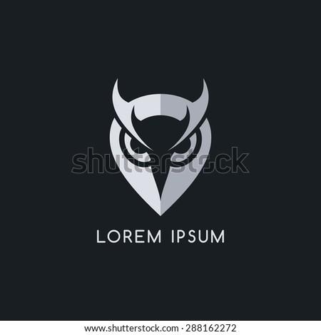 owl logo template - stock vector