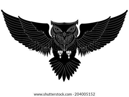 Owl tattoo stock photos images amp pictures shutterstock