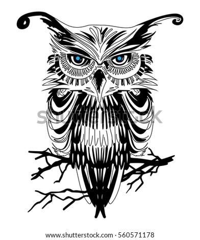 owl vector art on white background stock vector 2018 560571178 rh shutterstock com vector owl family clipart cartoon owl vector art