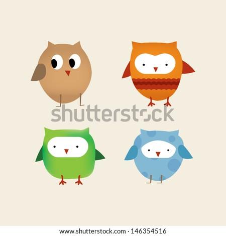 Owls - stock vector