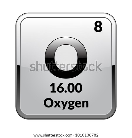 Oxygen symbol chemical element periodic table on stock vector oxygen symbolemical element of the periodic table on a glossy white background in a urtaz Images