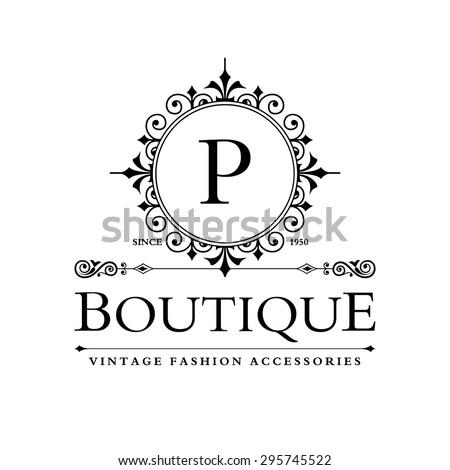 p letter logo monogram design elements stock vector royalty free
