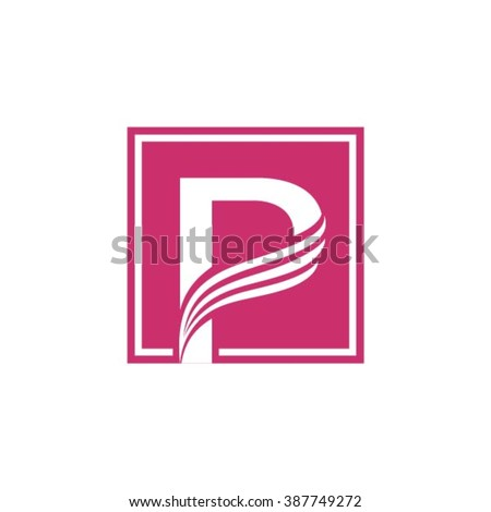 P logo vector element - stock vector