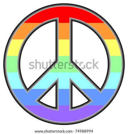 pacific symbol in rainbow colors - stock vector
