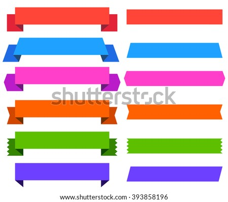 Pack of Retro Ribbons, Banners and Labels for Design, Sales, Media, Business - Illustration - stock vector