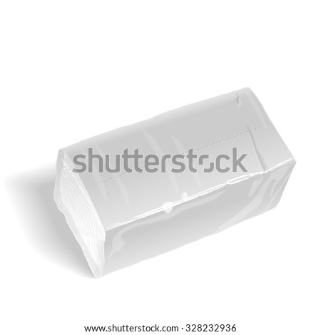 pack of tissue paper isolated on white background - stock vector