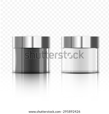 package beauty cream bottle design vector
