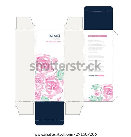 Package box design vector illustration - stock vector