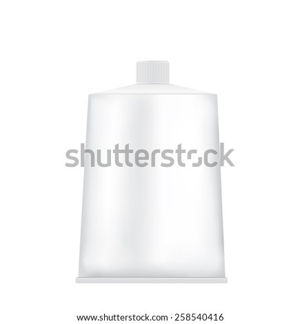 Package tube blank on a white background  - stock vector