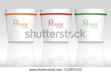 Package white and color  design, vector illustration - stock vector