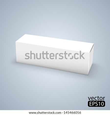 Package white box design - stock vector